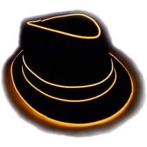 GlowCity Premium Light Up Fedora Hat, Uses EL Wire
