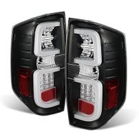 For 2014-2020 Toyota Tundra Pickup Truck Black Bezel Rear LED Tail Lights Brake Lamps Replacement Pair