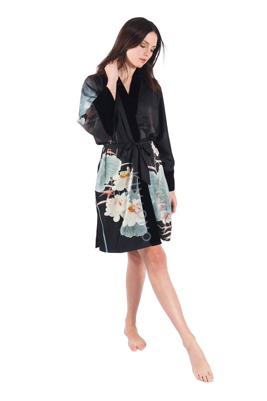 KIM+ONO Women's Kimono Wrap Short - Watercolor Floral