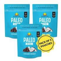 Amrita Foods - Chocolate Coconut Paleo Gluten-free Bites, Vegan, No Added Sugar, Dairy-free, 6 BitesPer Pouch, 3 Pouches Per Order, Small Batch Crafted