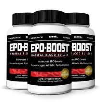 EPO-Boost Natural Blood Builder Sports Supplement. Oxygen & RBC Booster with Echinacea & Dandelion Root for Increased VO2 Max, Energy, Endurance ((3-Pack)