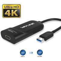 WAVLINK USB 3.0 to HDMI Display Adapter,4K Ultra HD Video Graphic Adapter with Audio for Multi Monitor up to 3840 X 2160,DisplayLink Chipset DL5500,Support Windows 10/8.1/8/7