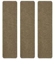 RugStylesOnline Stair Treads Collection Indoor Skid Slip Resistant Carpet Stair Tread Treads (Beige, Set of 3 (8 in x 30 in))