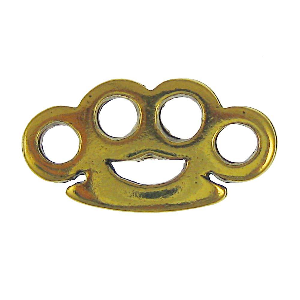 Jim Clift Design Brass Knuckles Gold Lapel Pin