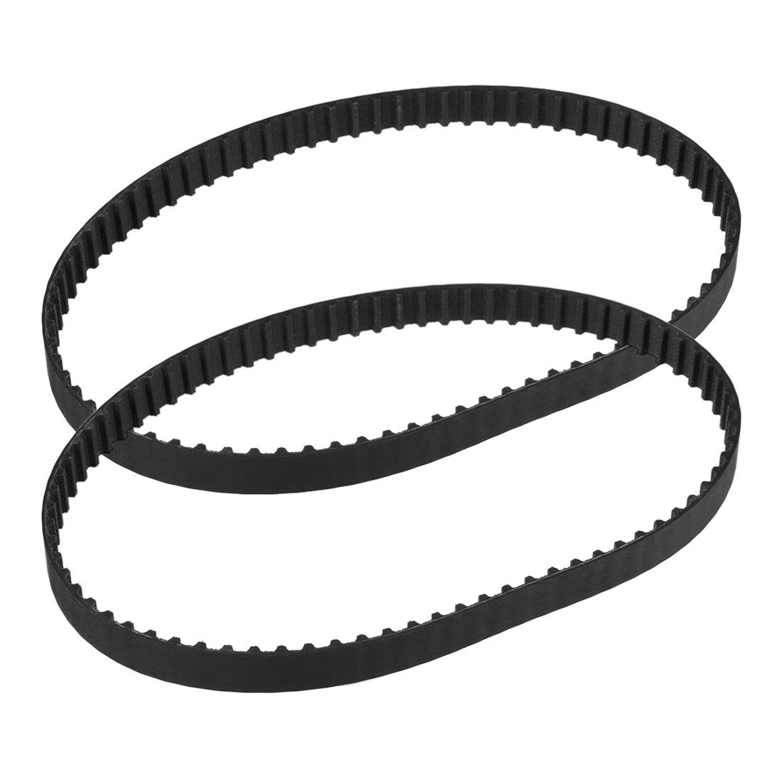uxcell 2pcs 154XL Rubber Timing Belt Synchronous Closed Loop Belt Timing Pulley Tools 10mm Width