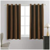 MIULEE 2 Panels Blackout Velvet Curtains Solid Soft Grommet Coffee Curtains Thermal Insulated Soundproof Room Darkening Curtains / Drapes / Panels for Living Room Bedroom 52 x 63 Inch