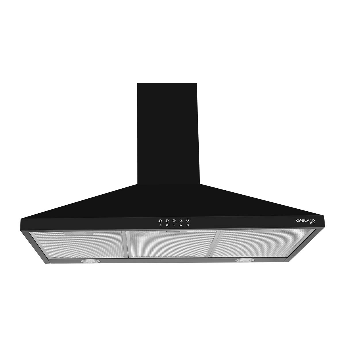 GASLAND Chef Black 30-inch Wall Mount Kitchen Hood, 3-Speed 450-CFM Push Button Control Ducted Exhaust Hood Fan, Convertible Chimney-style, Dual LED Lights, Aluminum Mesh Filter