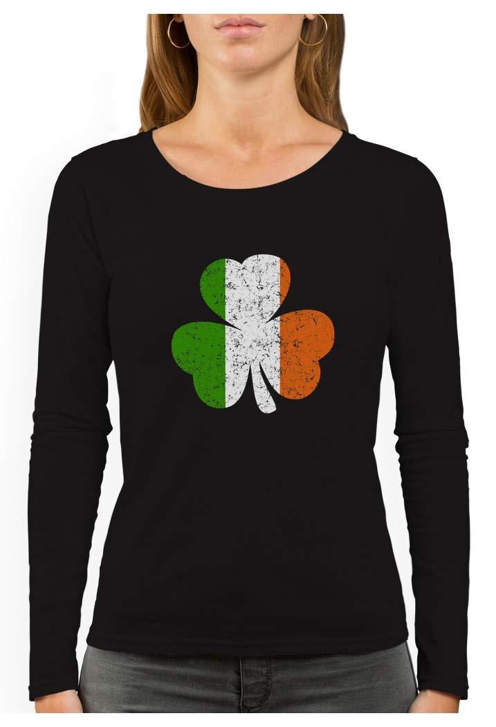 Ireland Shamrock Irish Flag Clover St. Patrick's Day Women Long Sleeve T-Shirt