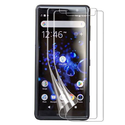 Olixar for Sony Xperia XZ2 Screen Protector - Film Protection - Case Friendly - Easy Application Card and Cleaning Cloth Included - 2 Pack