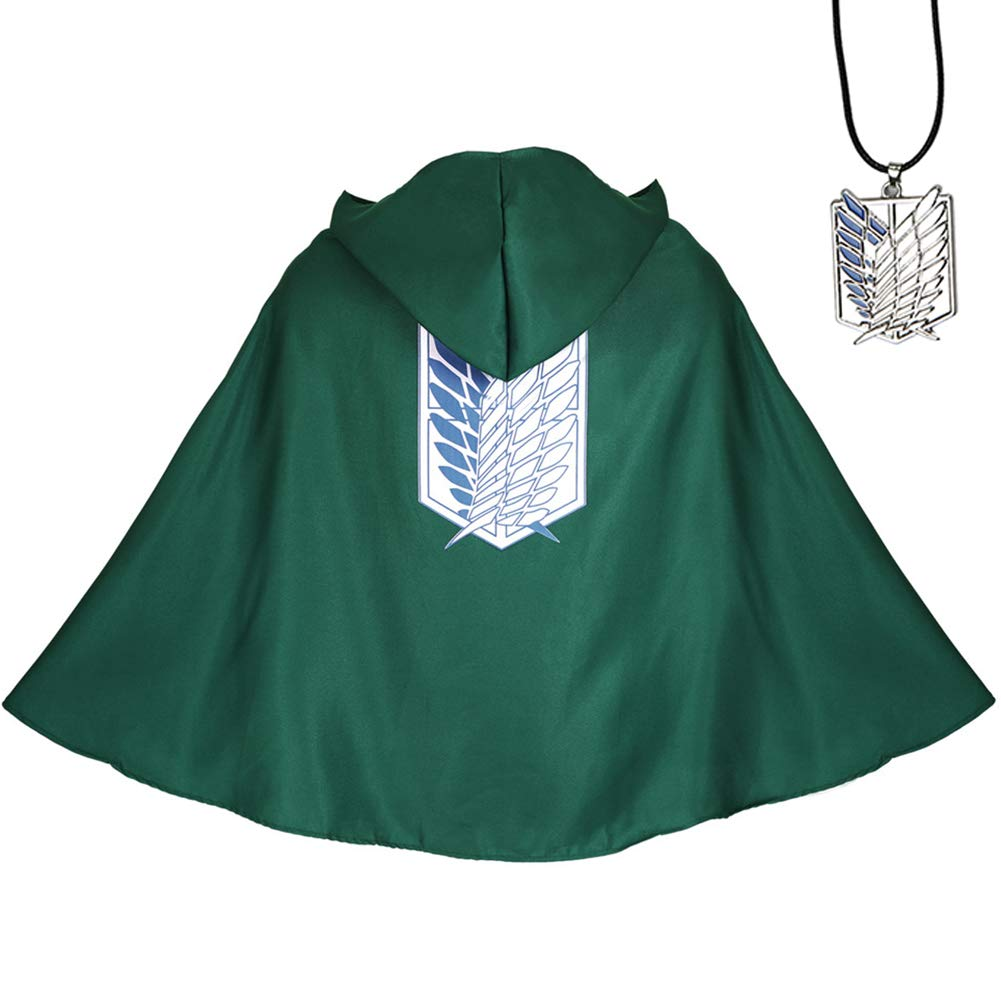 Tinyones Attack on Titan Cloak Cosplay Shingeki No Kyojin Costume with Necklace