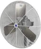 "Schaefer 20CFO 20"" Fixed-Mount Circulation High Airflow Fan, Industrial Made in USA, 2-Speed, 1/4 HP, 4050CFM, White"