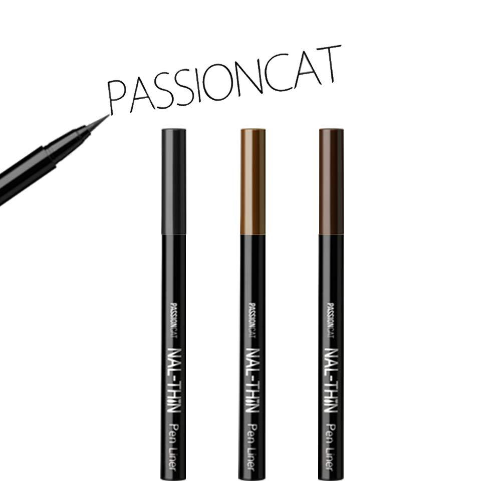 PASSIONCAT Super Slim Multi-proof Liner (Pen Type, Black) - Ultra Slim Black Ink Liner Waterproof Liquid Eyeliner Easy to Draw Long Lasting