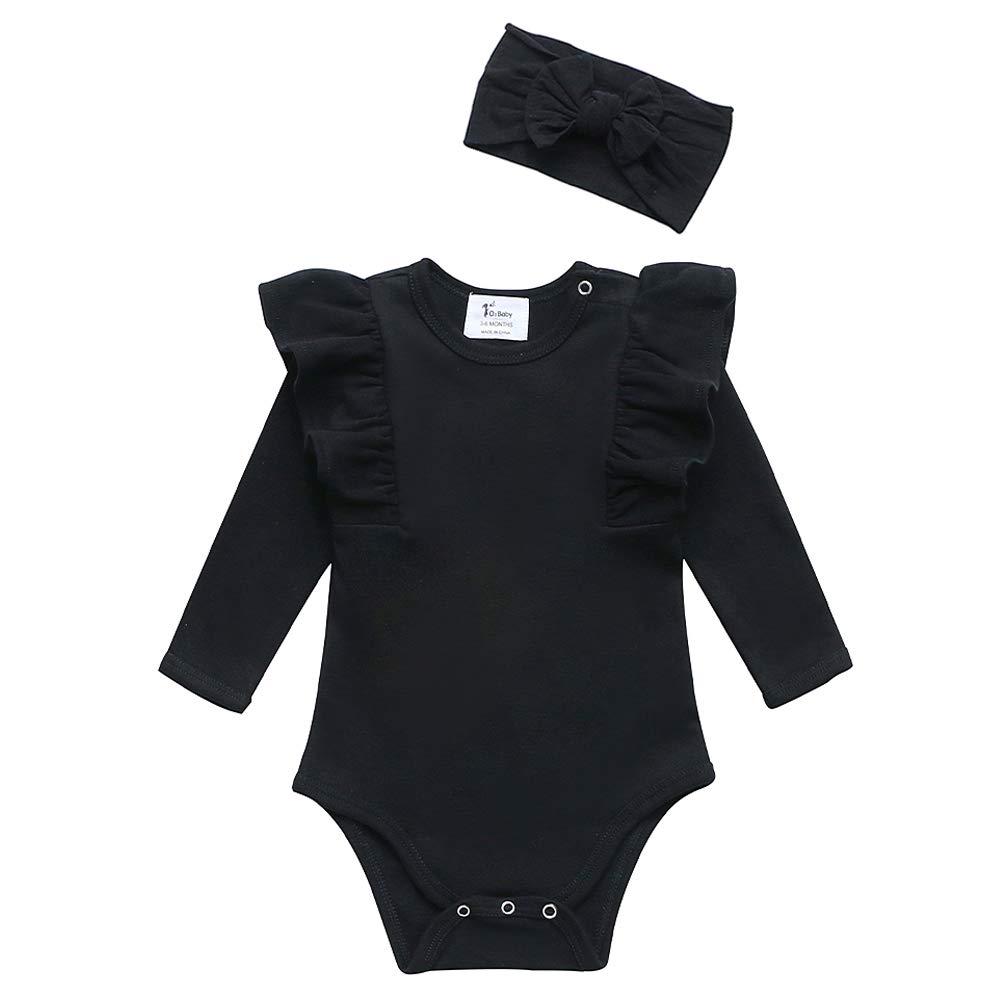 Organic Cotton Baby Boy Girl Short/Long Sleeve Bodysuit, Unisex Onesie for Newborn, Infant, Toddler
