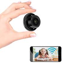 Hidden Spy Camera Mini WiFi Camera, Two-Way Video and Voice Function, Home Surveillance Camera Nanny Cam with Mobile Detection Alarm Infrared Night Vision Multi-User Surveillance Loop Recording