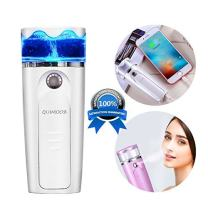 Portable Facial Steamers Nano Face Mister Handy Mist Spray Atomization Cool Moisturizing USB Rechargeable Mini Beauty Instrument with Power Bank