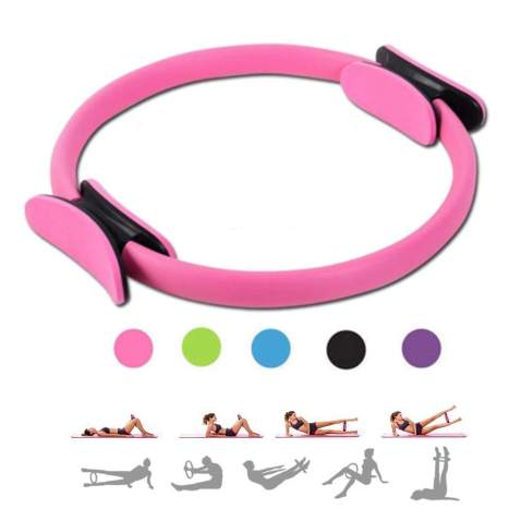M/_Eshop Pilates Ring 14 inch Home Workout Resistance Training Full Body Toning Fitness Magic Circle for Toning and Fitness