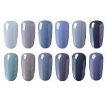 CLAVUZ Gel Nail Polish 12pcs Gray Nail Polish Kit Soak Off UV Gel Nail Lacquer Nail Art Manicure New Starter Gift Set