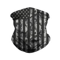 12 in 1 Multifunctional Seamless Fashion Face Cover for Women Men Motorcycling Face Bandu Scarf American Flag