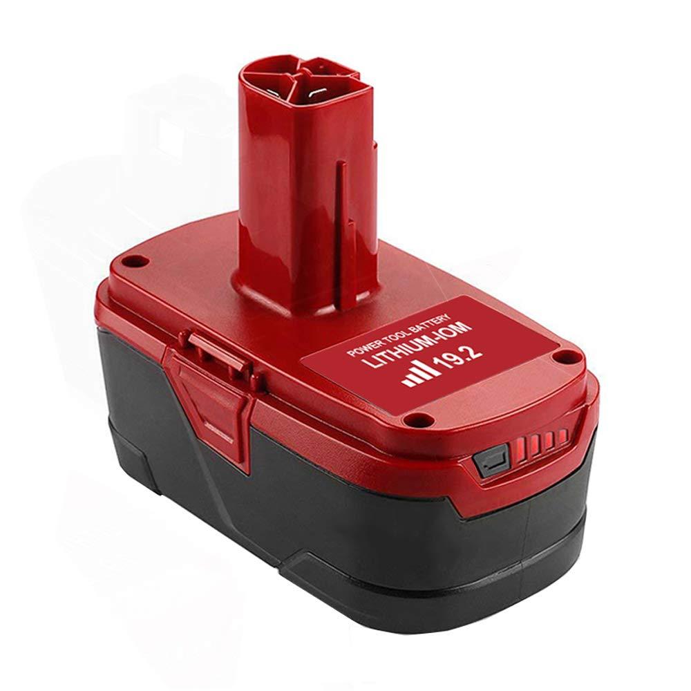 Topbatt 6.0Ah C3 Lithium Battery Replacement for Craftsman 19.2 Volt Battery XCP 130279005 1323903 130211004 1104 5 315.115410 315.11485