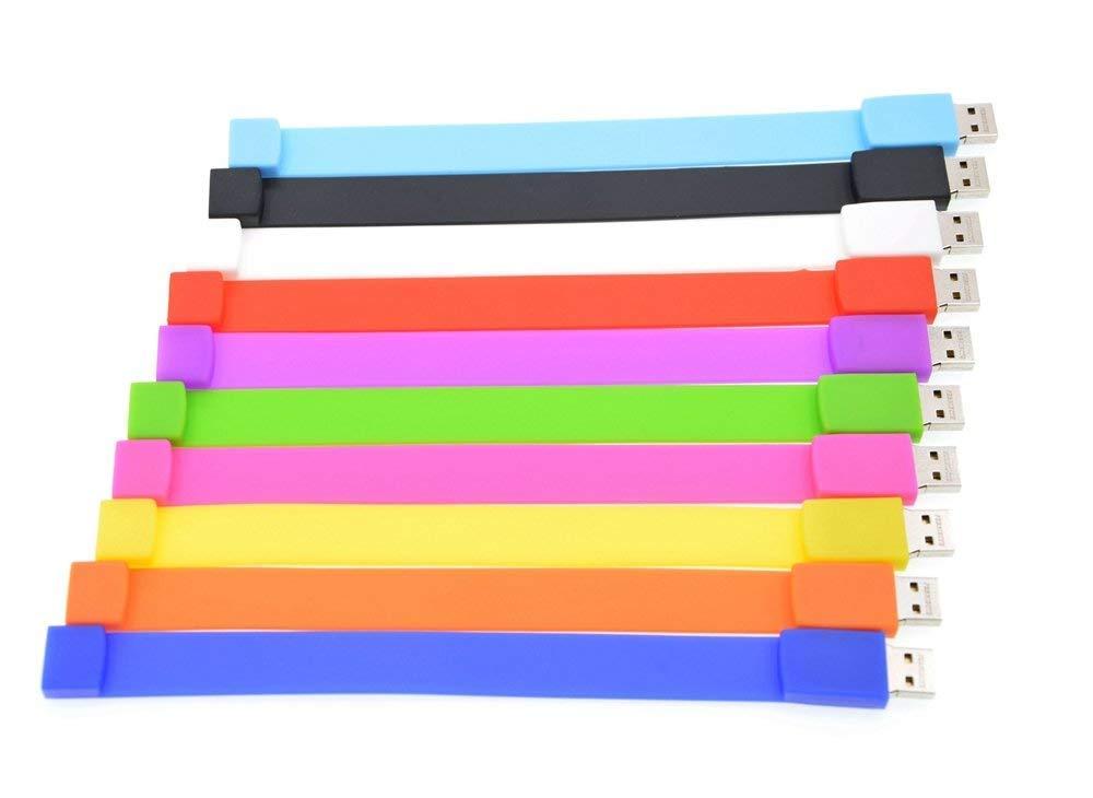 16GB Flash Drive 10 Pack Thumb Drives Value Bulk, Portable Multicoloured 16 GB USB 2.0 Memory Sticks Wristband Pendrive, Multipack Pen Drive Bracelet Jump Drive Zip Drive Festival Gift by FEBNISCTE