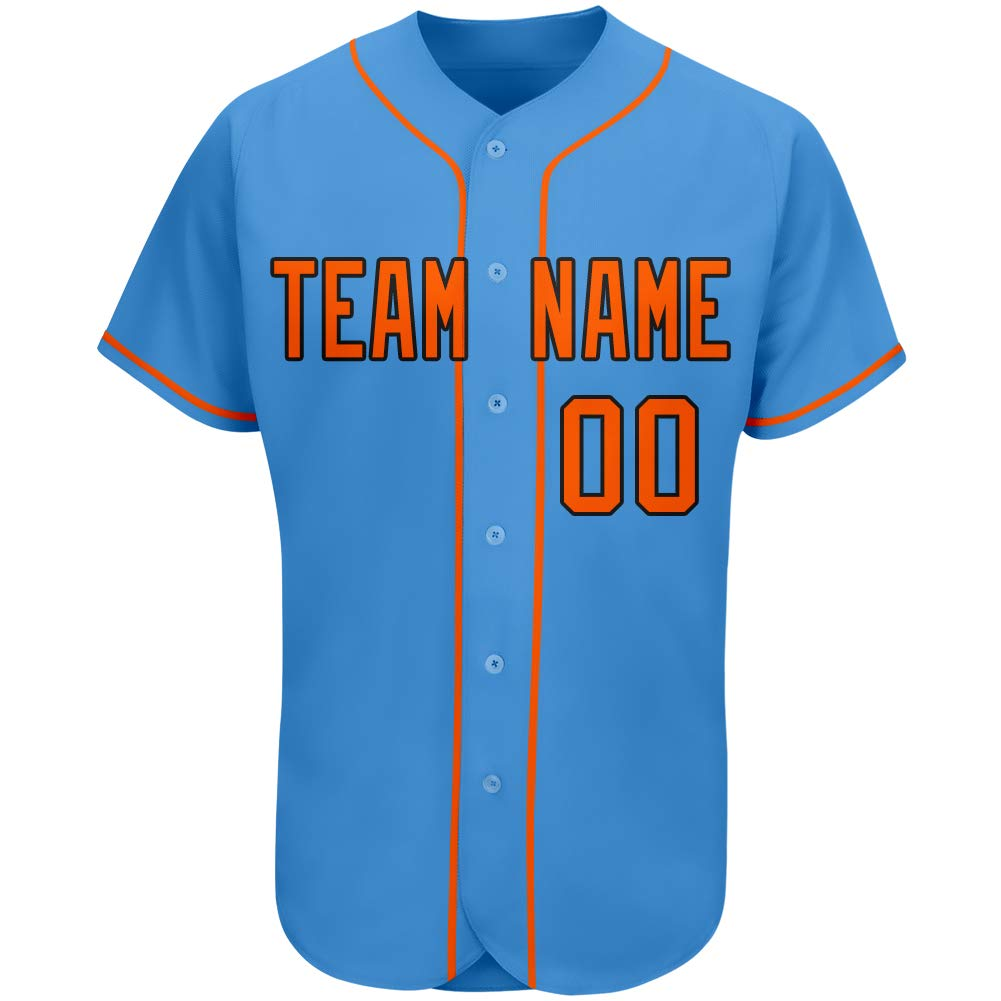 Custom Baseball Teams Jerseys Button Down Design Your Own Personalized Team Name/Your Name/Numbers