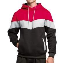 LBL Men's Solid Pullover Hoodies Sports Soft Blend Fleece Hooded Sweatshirts with Kanga Pocket