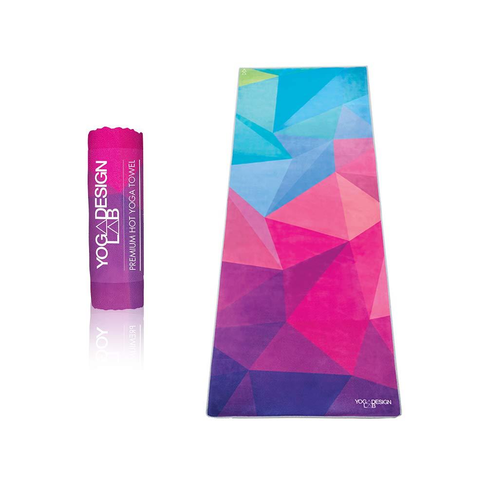 YOGA DESIGN LAB   The HOT Yoga Towel   Premium Non Slip Colorful Towel   Designed in Bali   Eco Printed + Quick Dry + Mat Sized   Ideal for Hot Yoga, Bikram, Ashtanga, Sport, Travel!