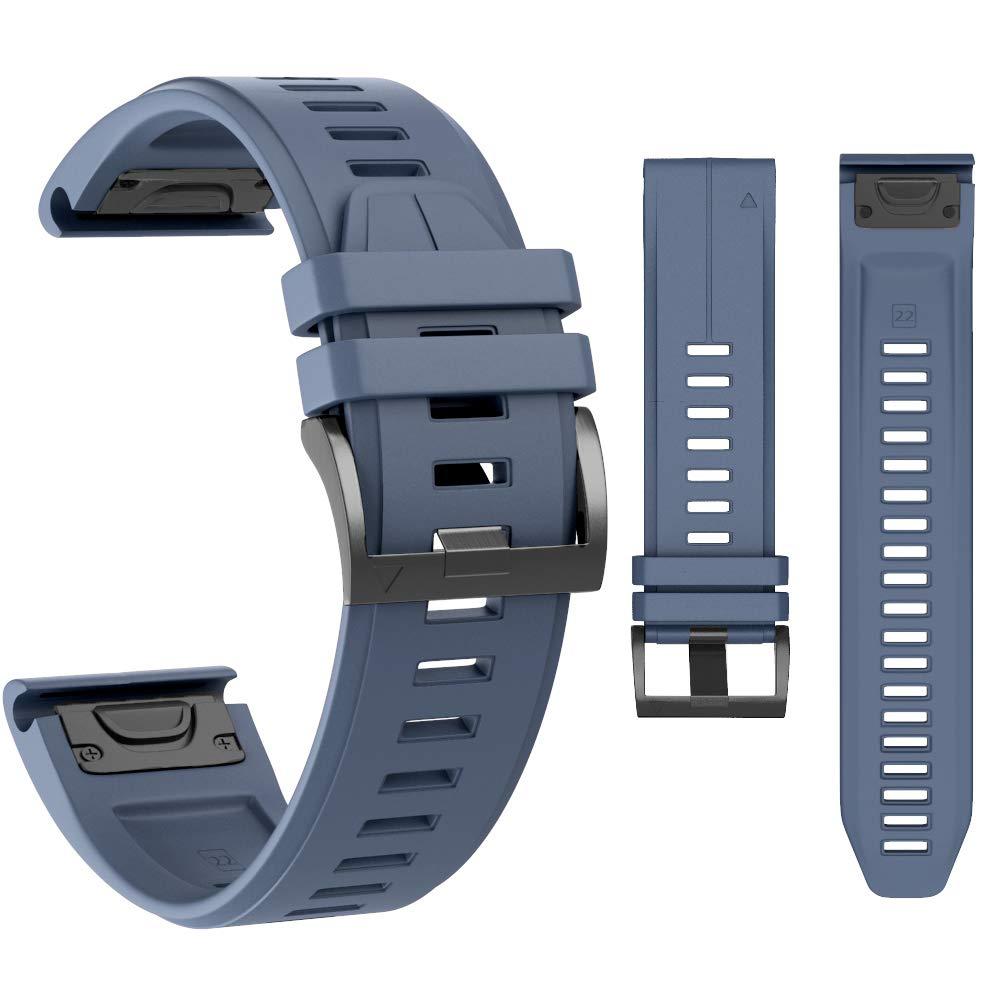 MCXGL Quick Fit Sport Silicone Watch Bands Compatible with Garmin Fenix 5/Fenix 5 Plus/Forerunner 935/Approach S60/Quatix 5