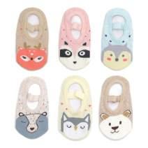 Yenzat Baby Anti Slip Non Skid Socks Grip for Toddler Girls Slipper 12-36 Months 6 Pairs