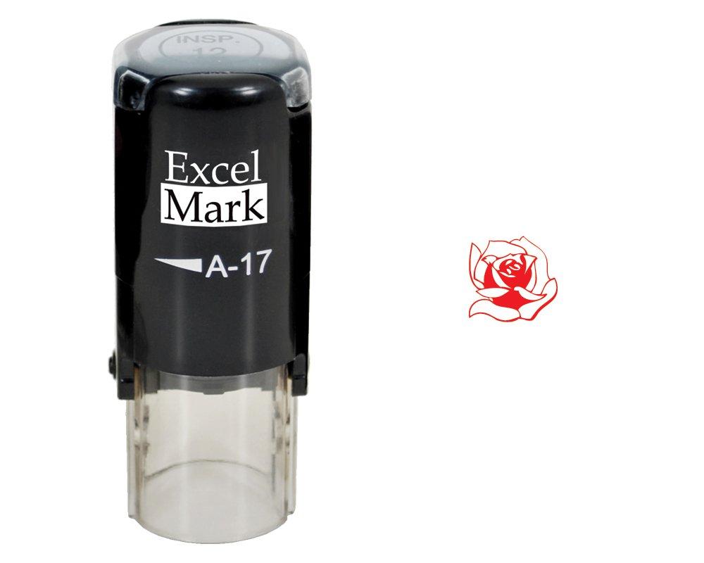 Valentine's Day Rubber Stamp - Rose Stamp - Red Ink