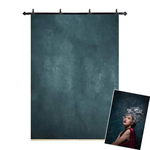 Kate 5x7ft/1.5m(W) x2.2m(H) Oil Painting Hand Painted Backdrop Canvas Dark Green Background Professional Portrait Photography Photo Backgrounds