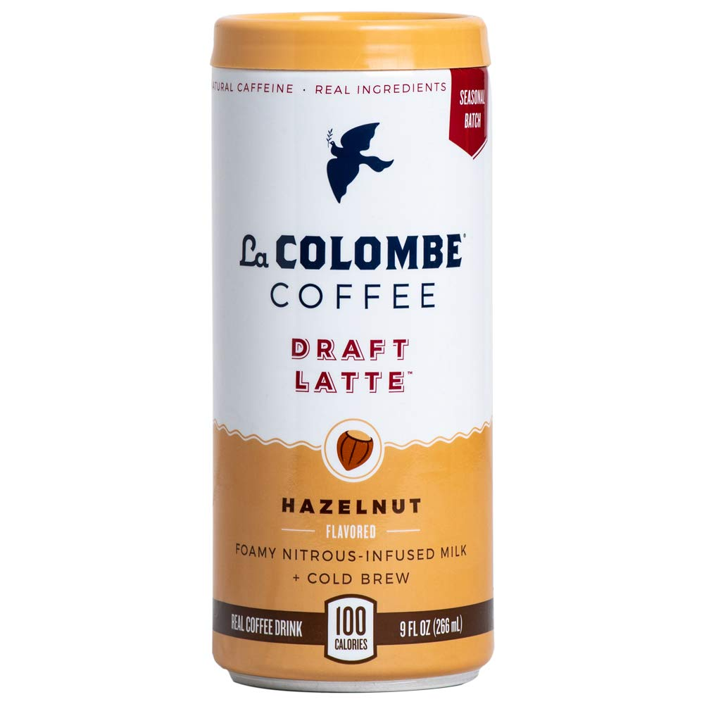 La Colombe Hazelnut Draft Latte - 9 Fluid Ounce, 12 Count - Cold-Pressed Espresso And Frothed Milk + Hazelnut - Grab And Go Coffee
