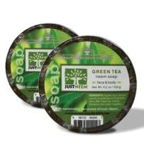 Neem Soap - 2 Pack - Green Tea - Face & Body - Glycerin, Coconut Oil, Green Tea & Vitamin E - Relieves Dryness, Maintains Healthy Skin - 4.2oz