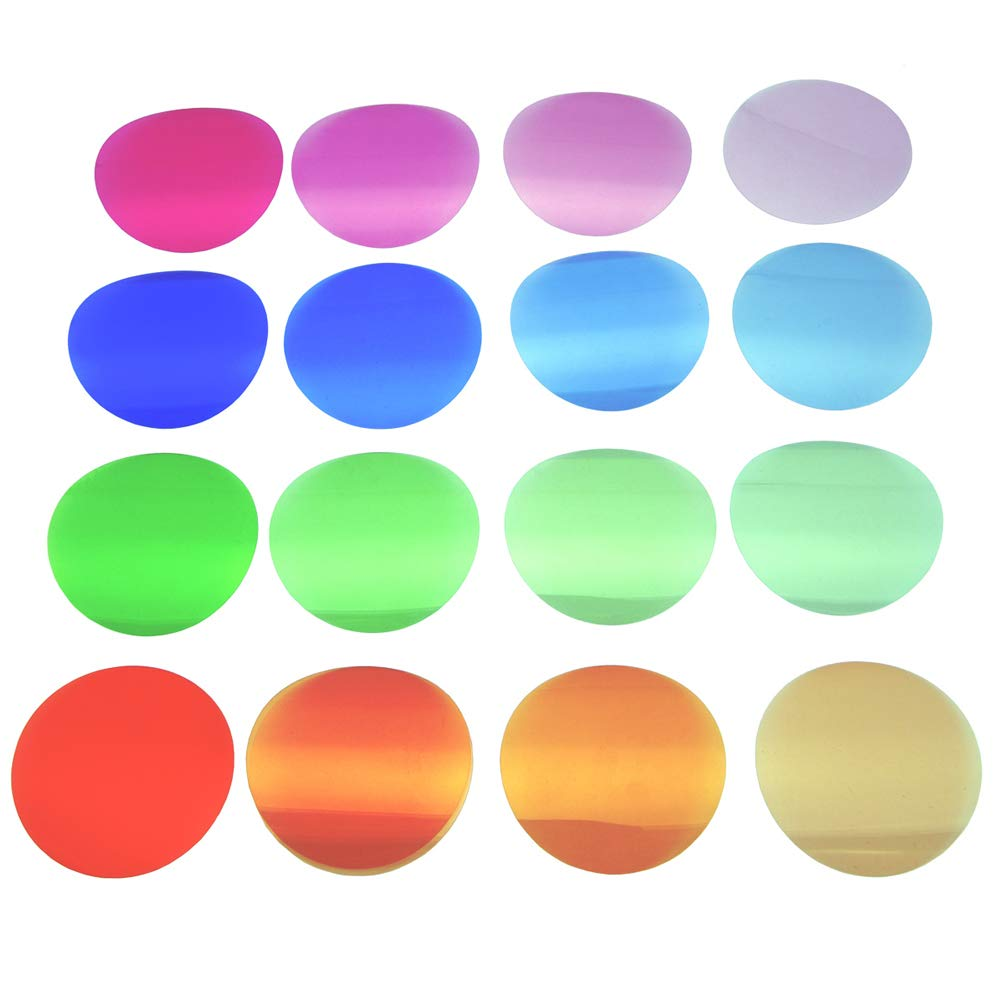 Godox V-11T Flash Gels Color Correction Filter Kit for Godox AK-R1, 32 Pcs Filters Include CTO CTB and Plus/Minus Green Color Correction Gels for Godox V1 Flash Light for AD200/AD200PRO with H200R