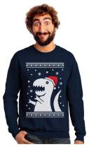 Big Trex Santa Ugly Christmas Sweater Style - Funny Xmas Sweatshirt
