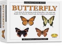 Skullduggery Eyewitness Kits Perfect Cast Butterfly Cast, Paint, Display and Learn Craft Kit