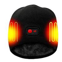 Greensha Battery Rechargeable Heated Hat Winter Warm Cotton Unisex Powered Cap,Works 3-7 H