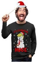 TeeStars - Snowman Donald Trump Gonna Be Huge Ugly Christmas Long Sleeve T-Shirt