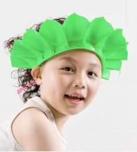 Baby Shower Cap, Baby Silicone Shampoo Shower Bathing Cap, Adjustable Shower Cap & Visor Hat, Safe Shampoo Shower Bathing Protection Bath Cap, for Toddler, Baby, Kids, Children (Green)
