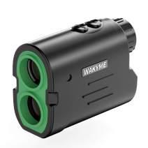 WAKYME Rangefinder, Golf & Hunting Range Finder 1000 Yard 6X Laser Range Finder with Slope, Fast Flag-Lock, Angle Measurement, Speed, Continuous Scan, Laser Rangefinders with Low Battery Indicator