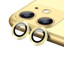 """OUBA [Set of 2] Camera Protector for iPhone 11 Premium Lens Tempered Glass, Full Coverage Ring Dust-Proof Ultra Thin HD Anti-Scratch Case Friendly for iPhone 11 6.1"""" - Yellow"""