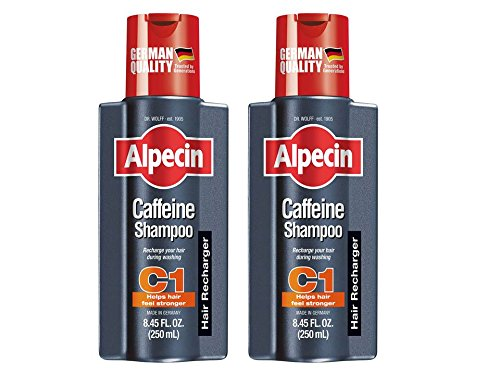 Alpecin C1, Caffeine Shampoo, 8.45 fl oz (Pack of 2), Caffeine Shampoo Cleanses the Scalp to Promote Natural Hair Growth, Leaves Hair Feeling Thicker and Stronger