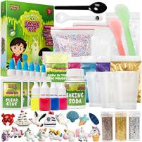 EMBRACE PLAY Slime Kit for Girls and Boys - The Ultimate 56 Piece Slime Kit Slime Supplies Includes Non-Borax Slime Glue, Slime Scents, Slime Add Ins, and Other Slime Ingredients