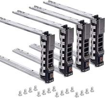 """WUYILED {4pcs Pack}2.5"""" Hard Drive Caddy Tray for Dell PowerEdge Server - T440 T640 R330 R430 T430 R630 T630 R730 R730XD R830 R930 for G176J and 0G176J(G176J-4PCS)"""