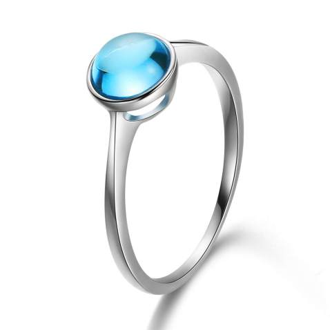 LONDON BLUE TOPAZ Ring,Engagement Ring,Birthstone Ring,Natural Topaz Ring November Ring,Sterling Silver Ring,Rings For Woman,Stackable Ring