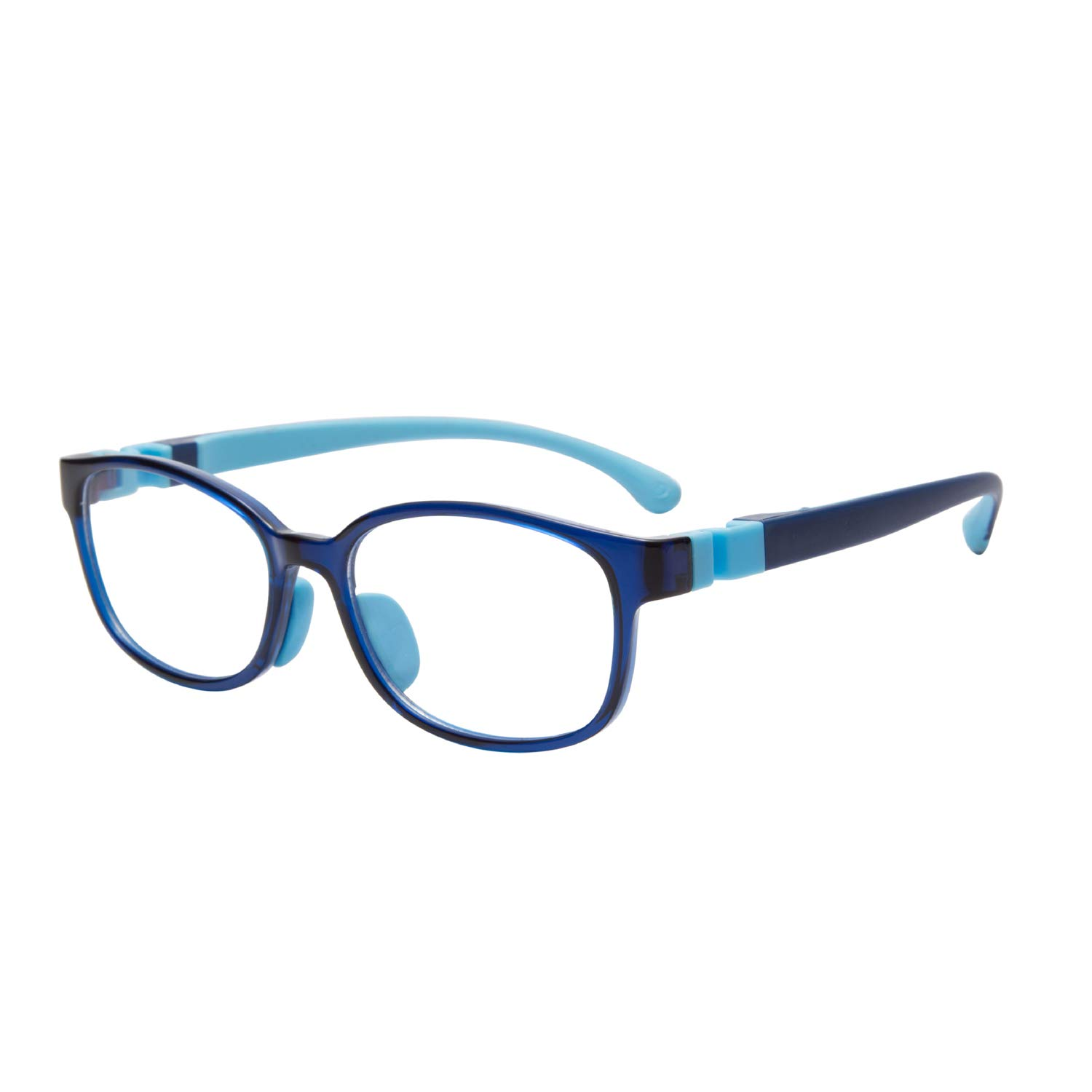 Kids Blue Light Blocking Glasses Madison Avenue Anti Blue Ray Computer Game Glasses for Boys and Girls (Blue)