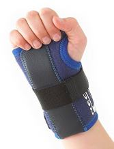 Neo G Wrist Brace for Kids - Stabilized Support for Carpal Tunnel, Juvenile Arthritis, Joint Pain, Tendonitis, Hand Sprains - Adjustable Compression - Class 1 Medical Device - One Size - Left - Blue