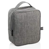 Grosmimi Insulated Baby Food and Bottle Tote Baby Food Bag Lunch Carry Bag (Grey)