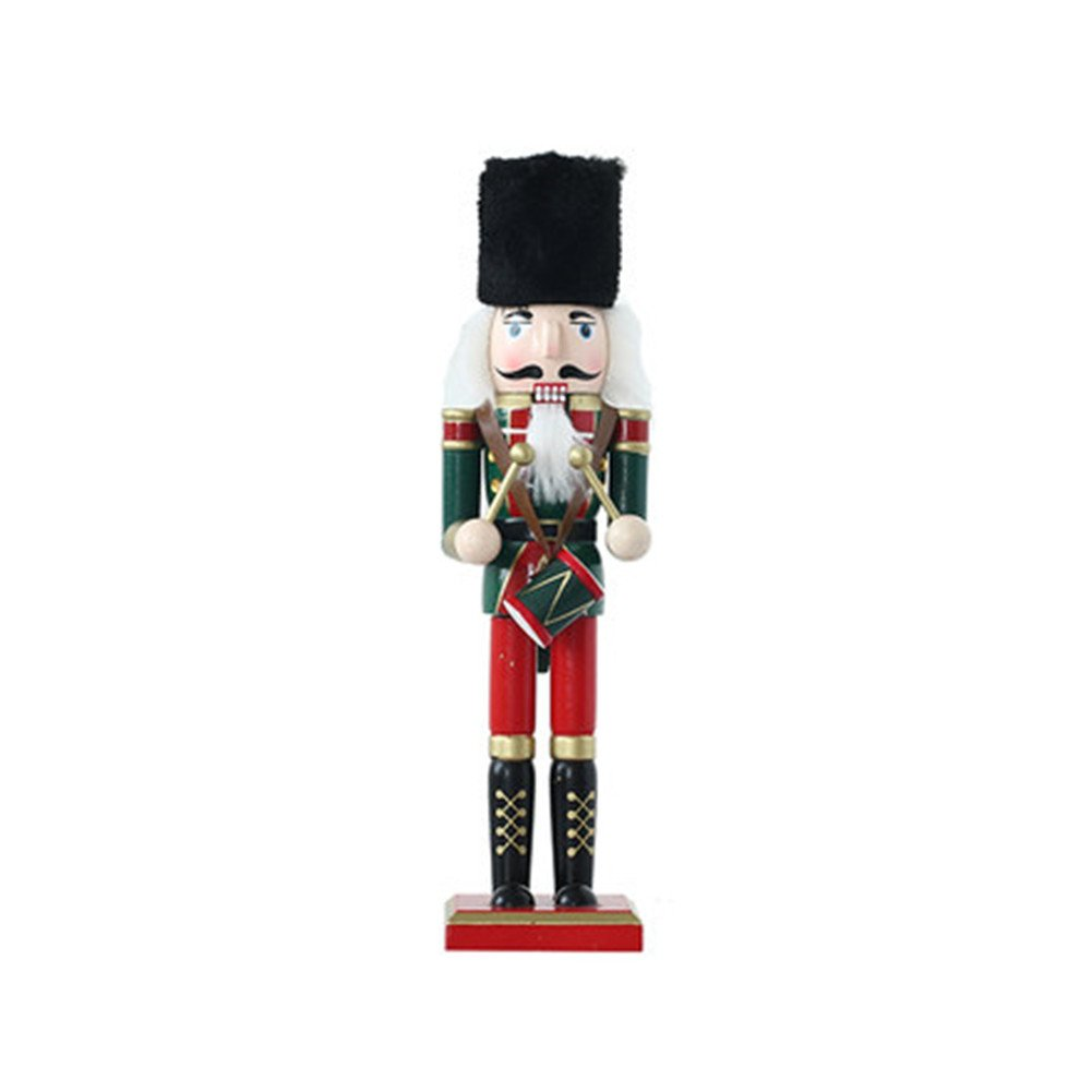 O-Toys Wooden Nutcracker Ornaments Christmas Decoration Figures Puppet Toys Home Decor (12 Inch, Drum)