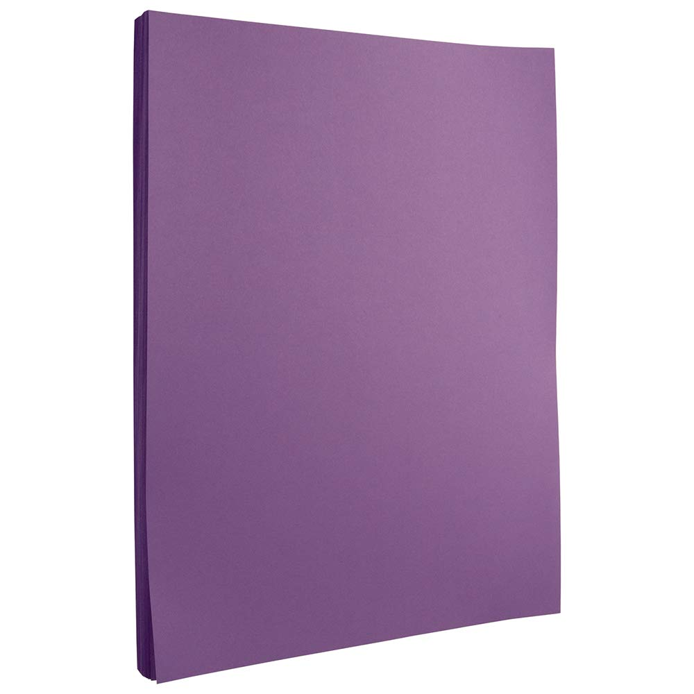 JAM PAPER Colored 24lb Paper - 8.5 x 11 - Violet Recycled - 500 Sheets/Ream